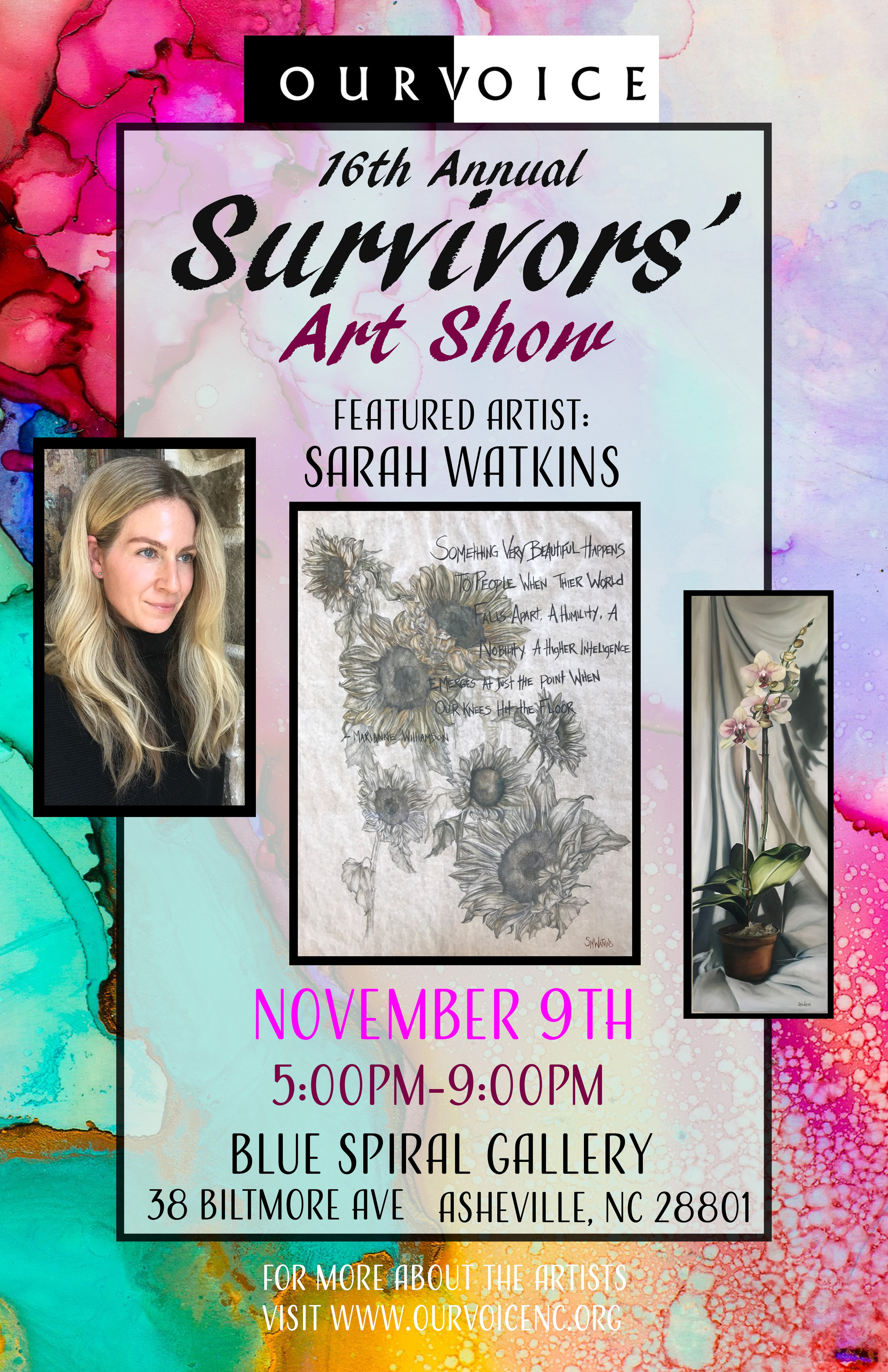 Heart works survivors art show our voice for Craft shows in nc 2017